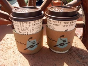 Caribou Coffee pours beverages for 24-cents