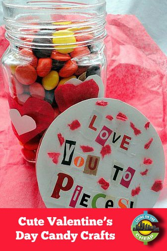 Cute Valentine's Day craft ideas for candy lovers. (Great for kids to do!)