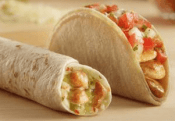 "Del Taco's ""Buck & Under"" menu and free chicken taco"