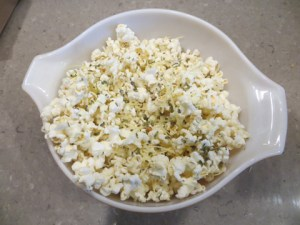 The popped corn
