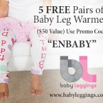 Five free pairs of baby leggings