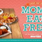 Free meal for moms at Hooters on Mother's Day