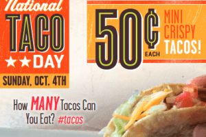 On The Border: 50-cent tacos on National Taco Day