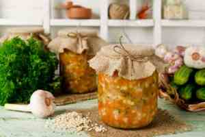 barley soup in a jar