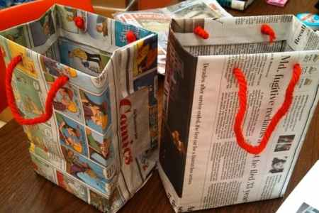 Make your own easy holiday gift bags