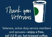 Starbucks: Free coffee for military and spouses