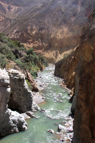 Bottom of Colca Canyon