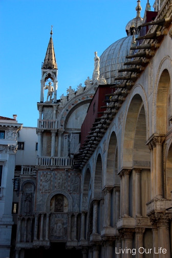 The Duges Palace in the square.