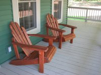 Re-staining Adirondack chairs - Living Rich on LessLiving ...