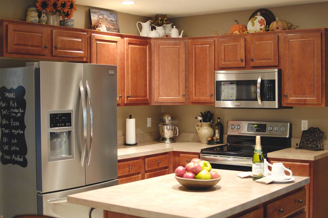 finally decorating kitchen fall ideas kitchen cabinet tops decorate kitchen cabinet tops