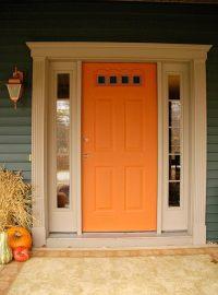 Front door redo using faux wood grain technique - Living ...