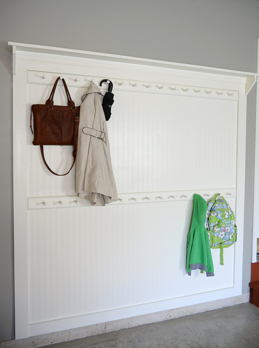 Mudroom Ideas Diy Beadboard Shaker Peg Coat Rack | Living Rich On Less