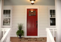 New red front door at the flip house - Living Rich on ...