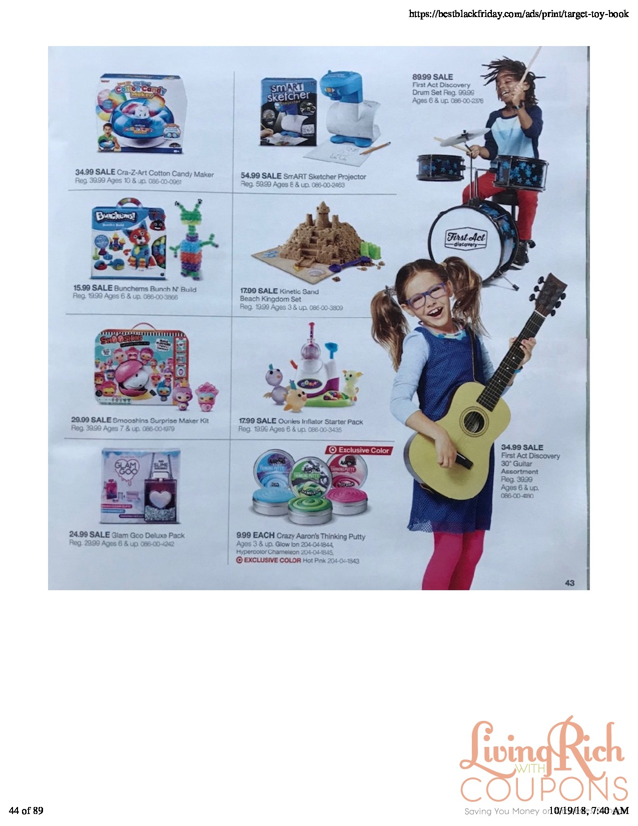 Toy Guitar Target Target Toy Book 2018living Rich With Coupons