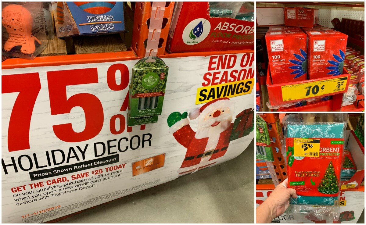 Home Clearance 75 Off Christmas Clearance At Home Depot Living Rich With