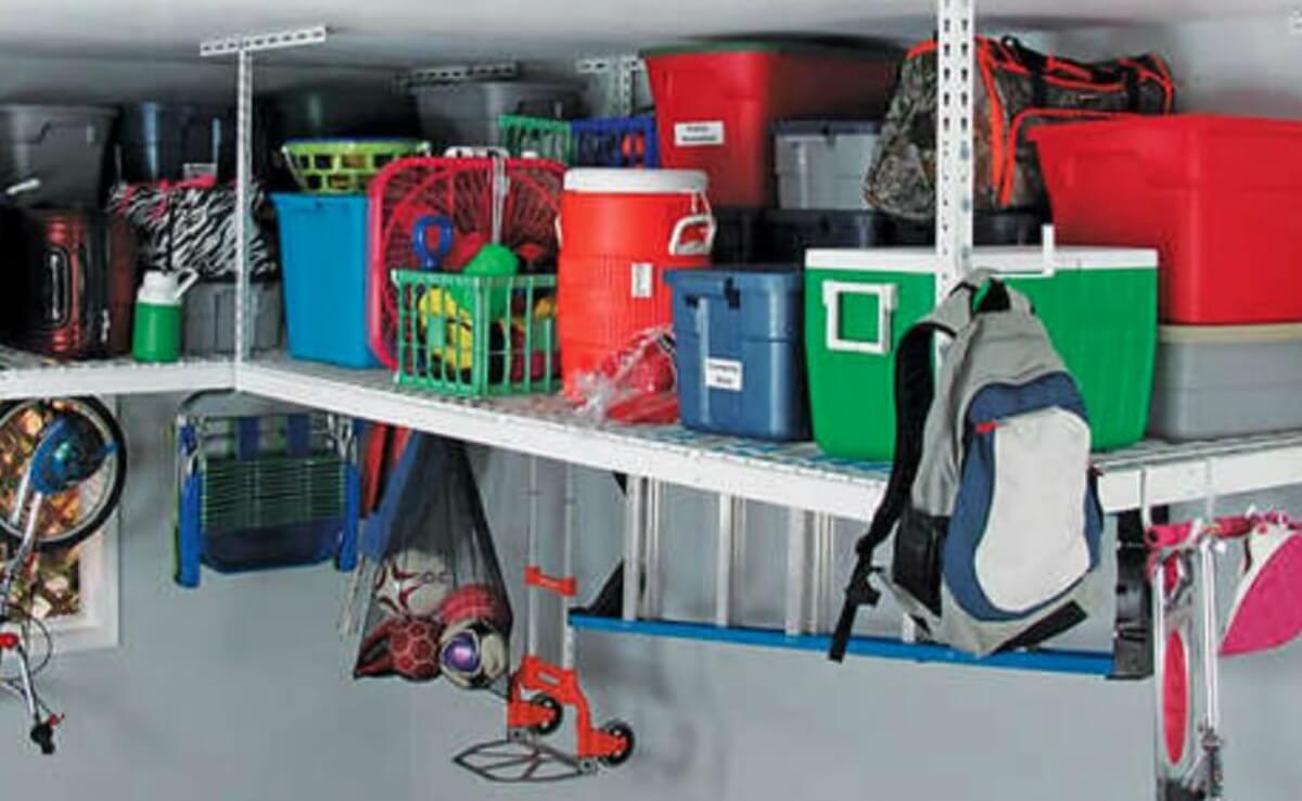 Garage Storage Costco Costco Saferacks Overhead Garage Storage Combo Kit Two 4 Ft X 8