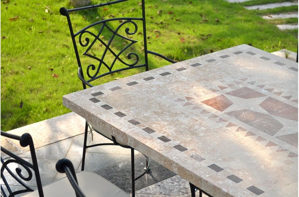 Salon De Jardin Mosaique Fer Forgé | Kiaora Shadow : Receveur De ...