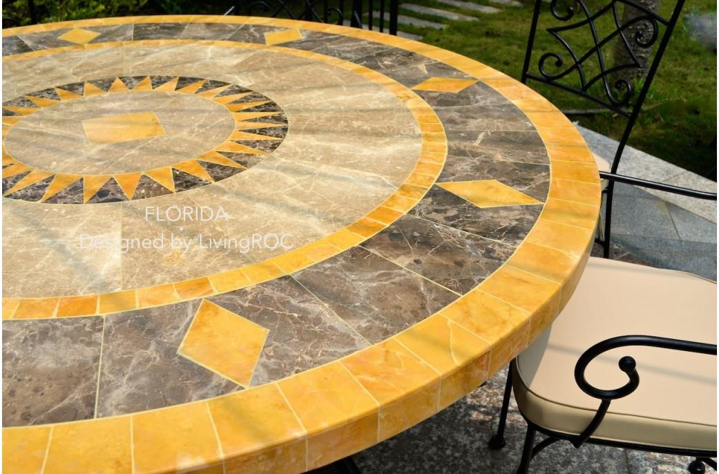 Salon De Jardin En Mosaique Et Fer Forge