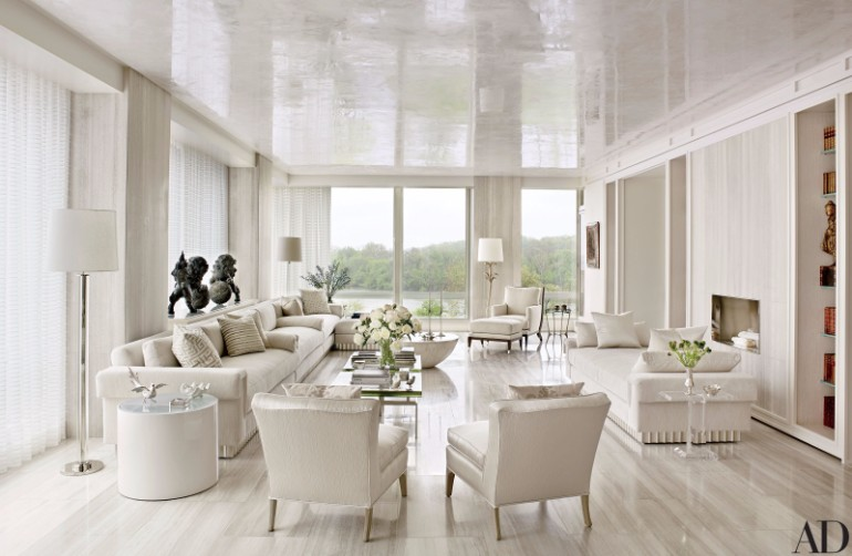 3d Wallpaper For Walls India Fall In Love With These Luxury White Living Rooms Living