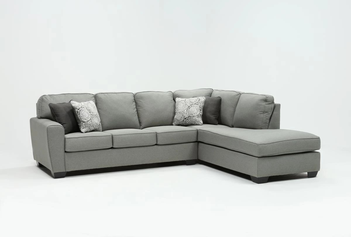 Sofa Arm Covers Dublin Mcdade Ash 2 Piece Sectional With Right Arm Facing Armless Chaise