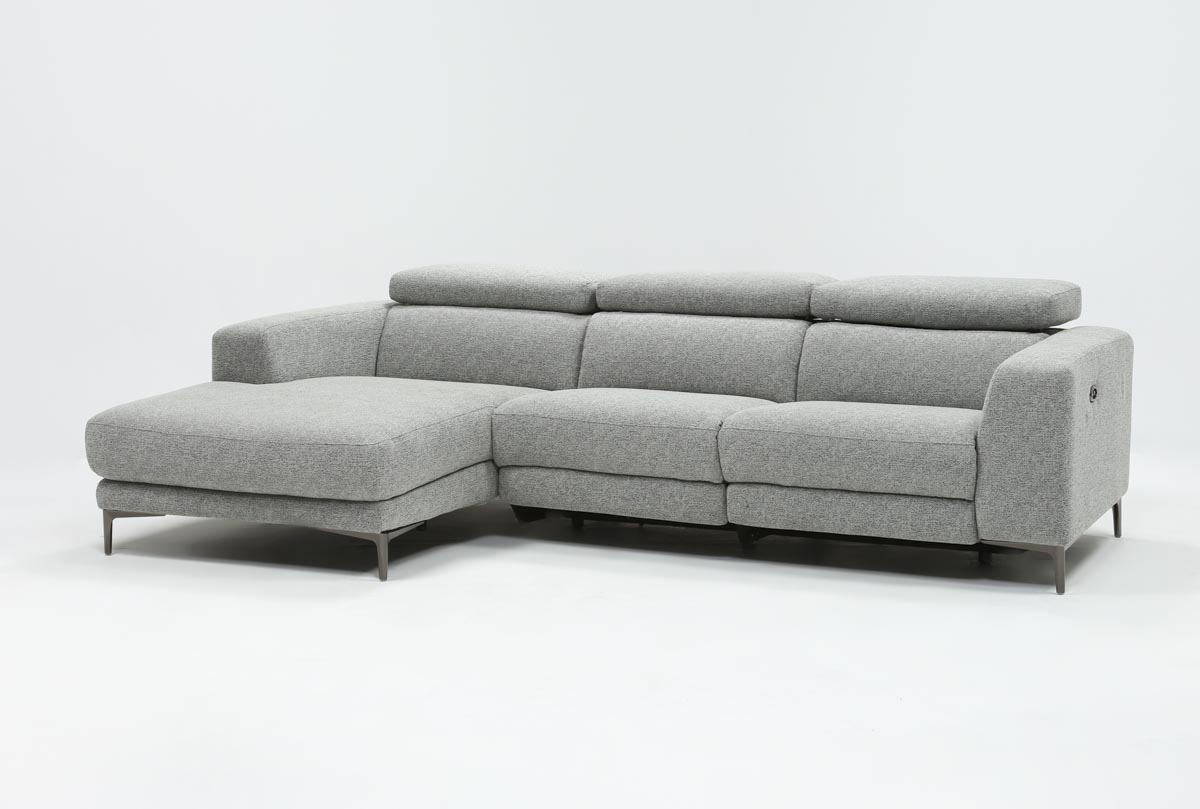 Sofa Relax Con Usb Maddie Grey 2 Piece Sectional With Left Arm Facing Chaise