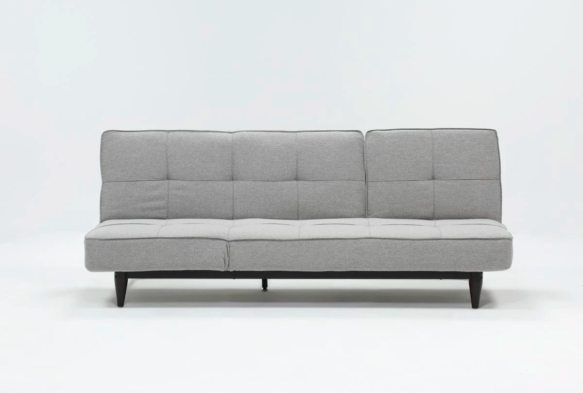 Futon Convertible 1 Place Paige Grey Convertible Sofa Chaise Sleeper