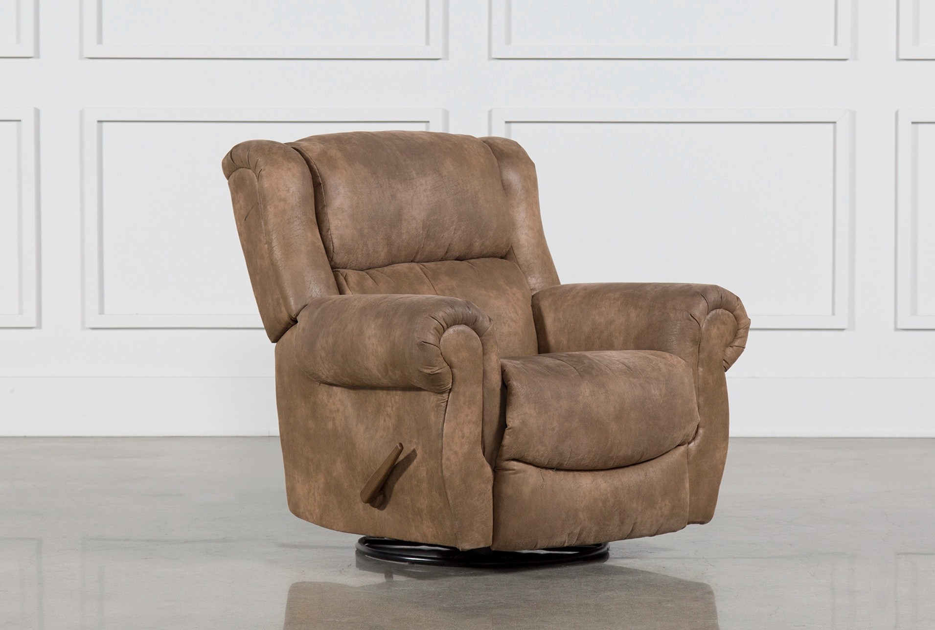 Mid Century Modern Patio Christopher Swivel Rocker Recliner | Living Spaces
