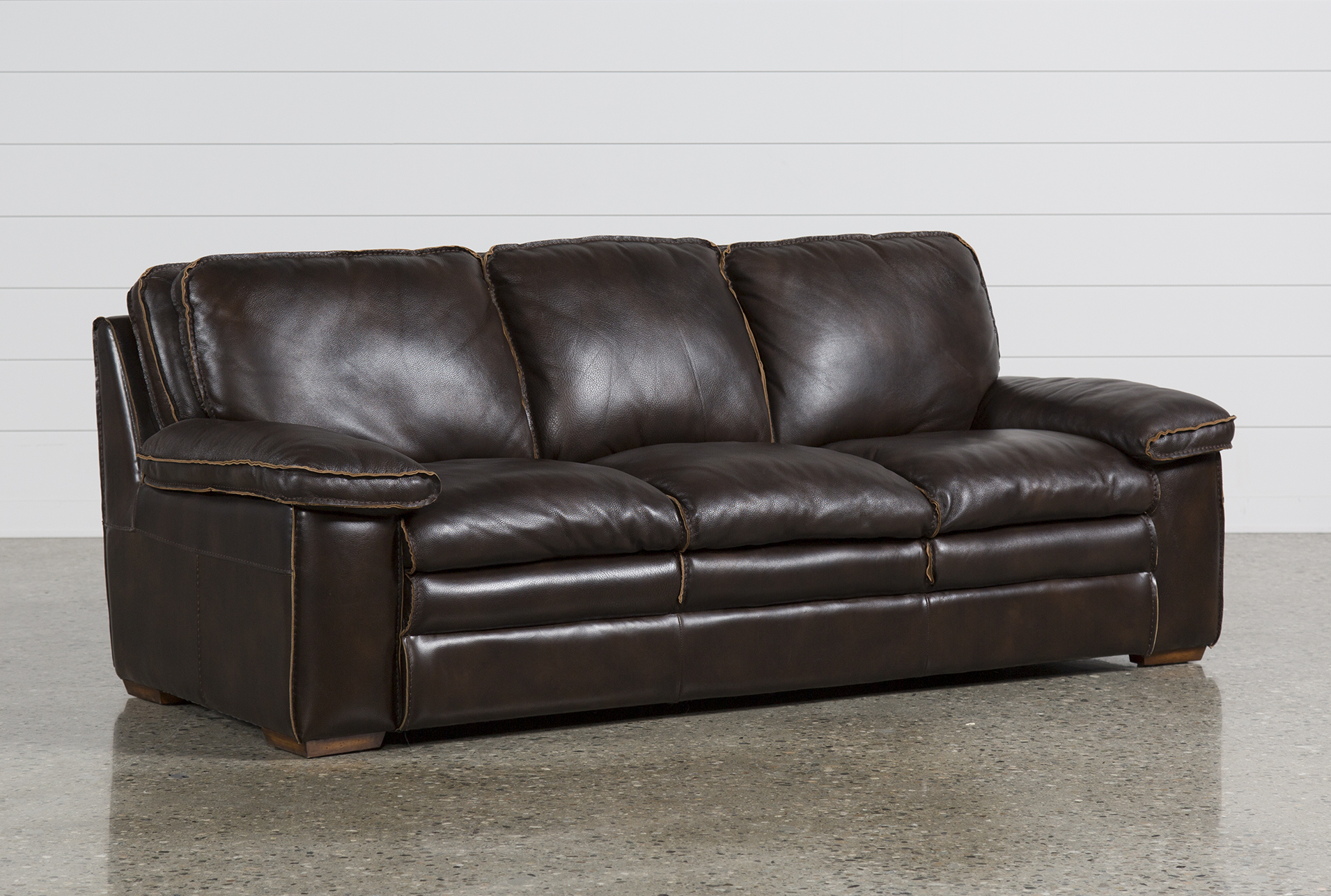Brown Real Leather Couch Walter Leather Sofa