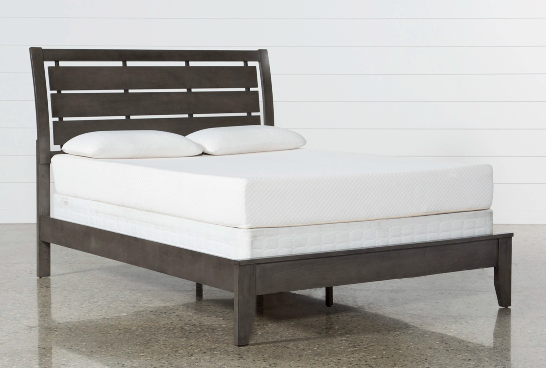 Queen Bed Frame Chad Grey Queen Panel Bed