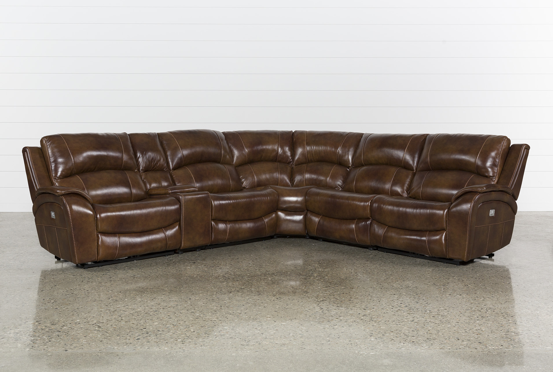 Sofa Cognacfarben Travis Cognac Leather 6 Piece Power Reclining Sectional W Pwr Hdrst Usb