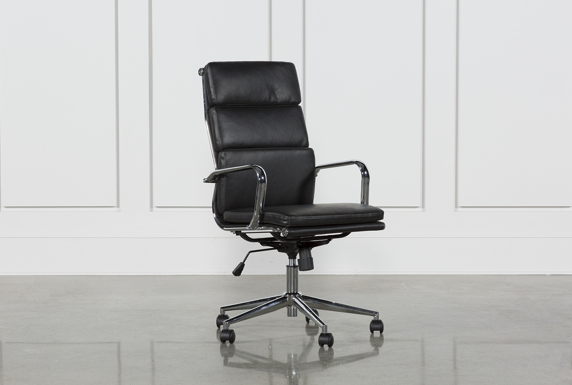 Grey Desk Chair Moby Black High Back Office Chair
