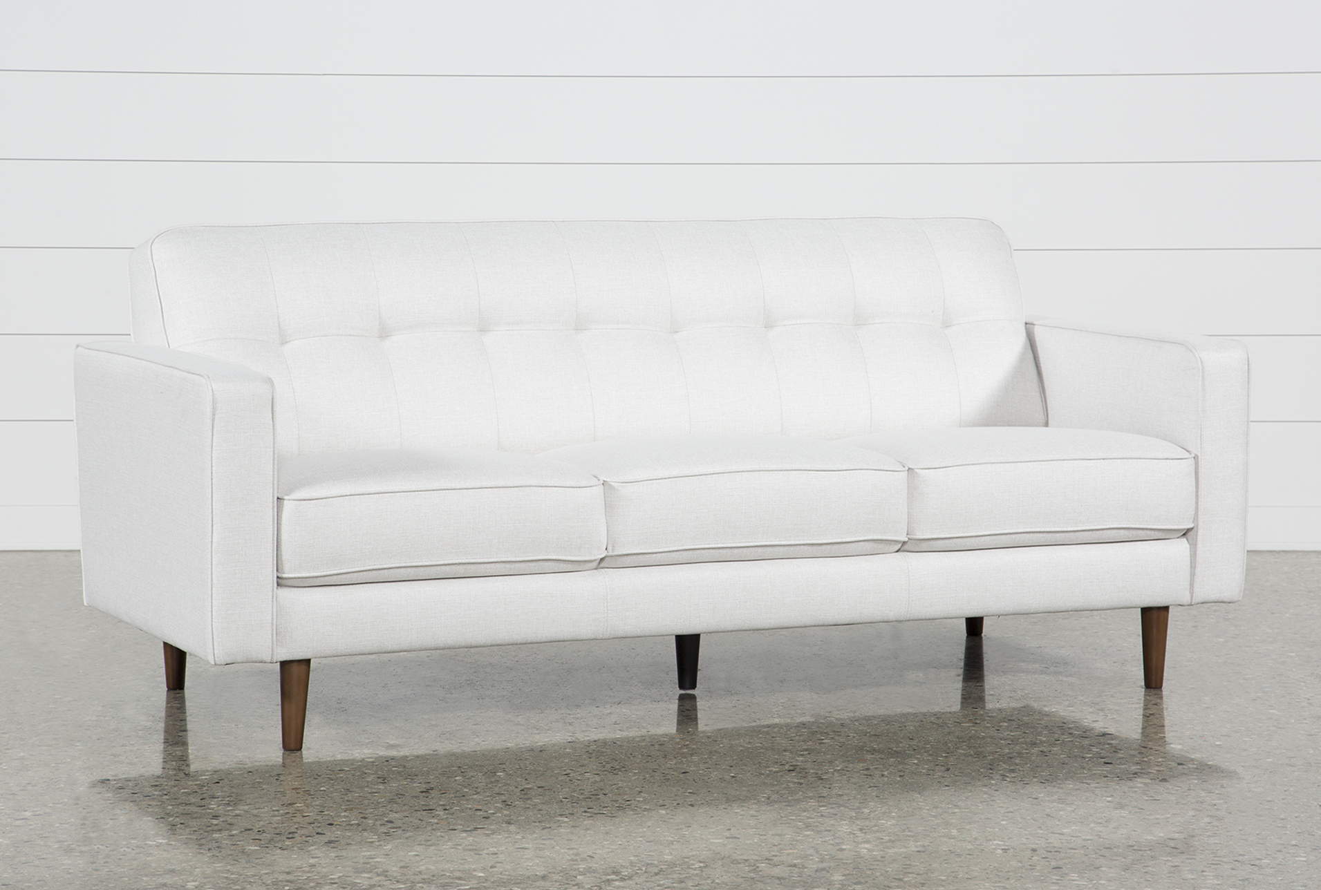 Sofa Fabric White Fabric Sofas Couches Free Assembly With Delivery