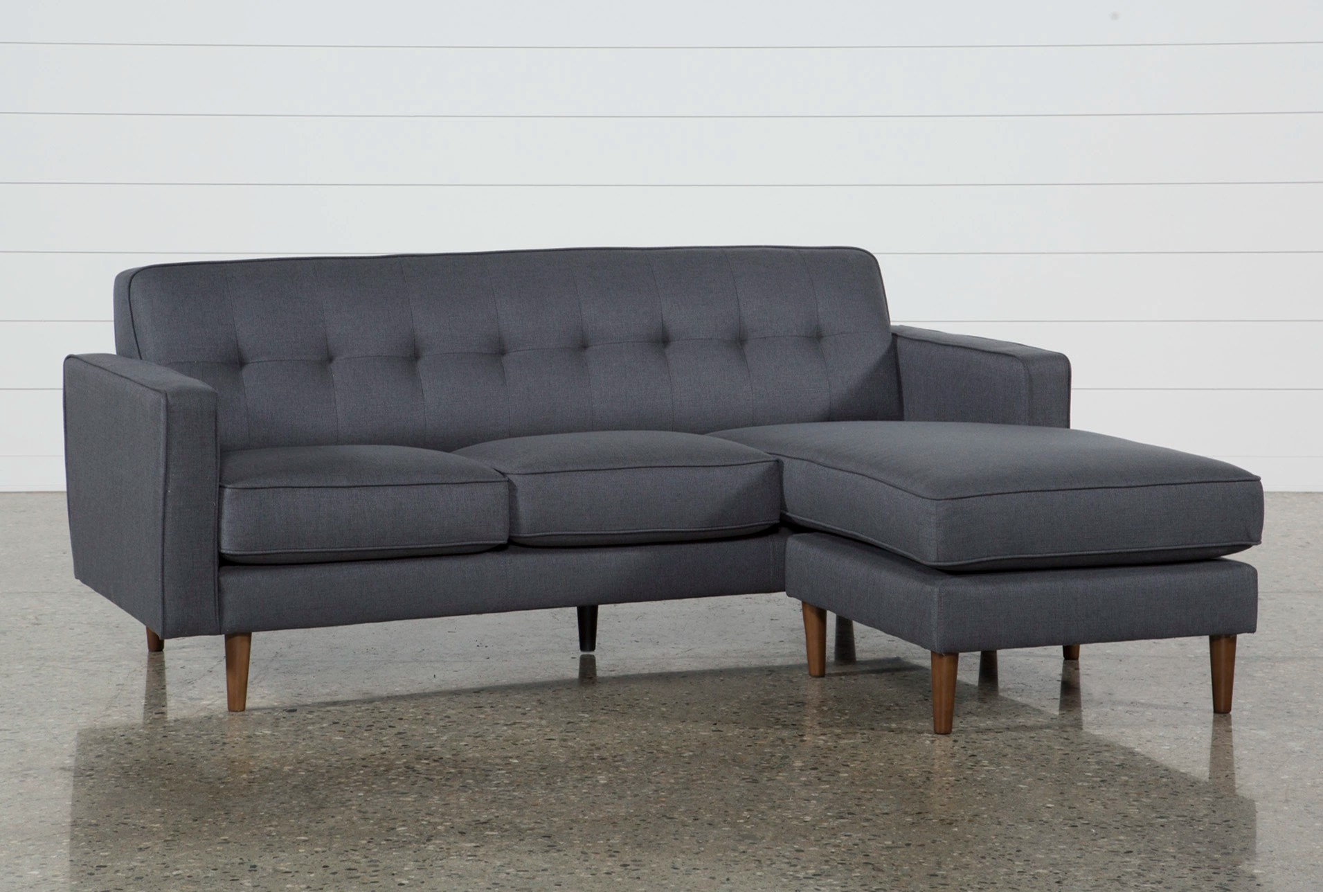 Sofa Couch London Dark Grey Reversible Sofa Chaise