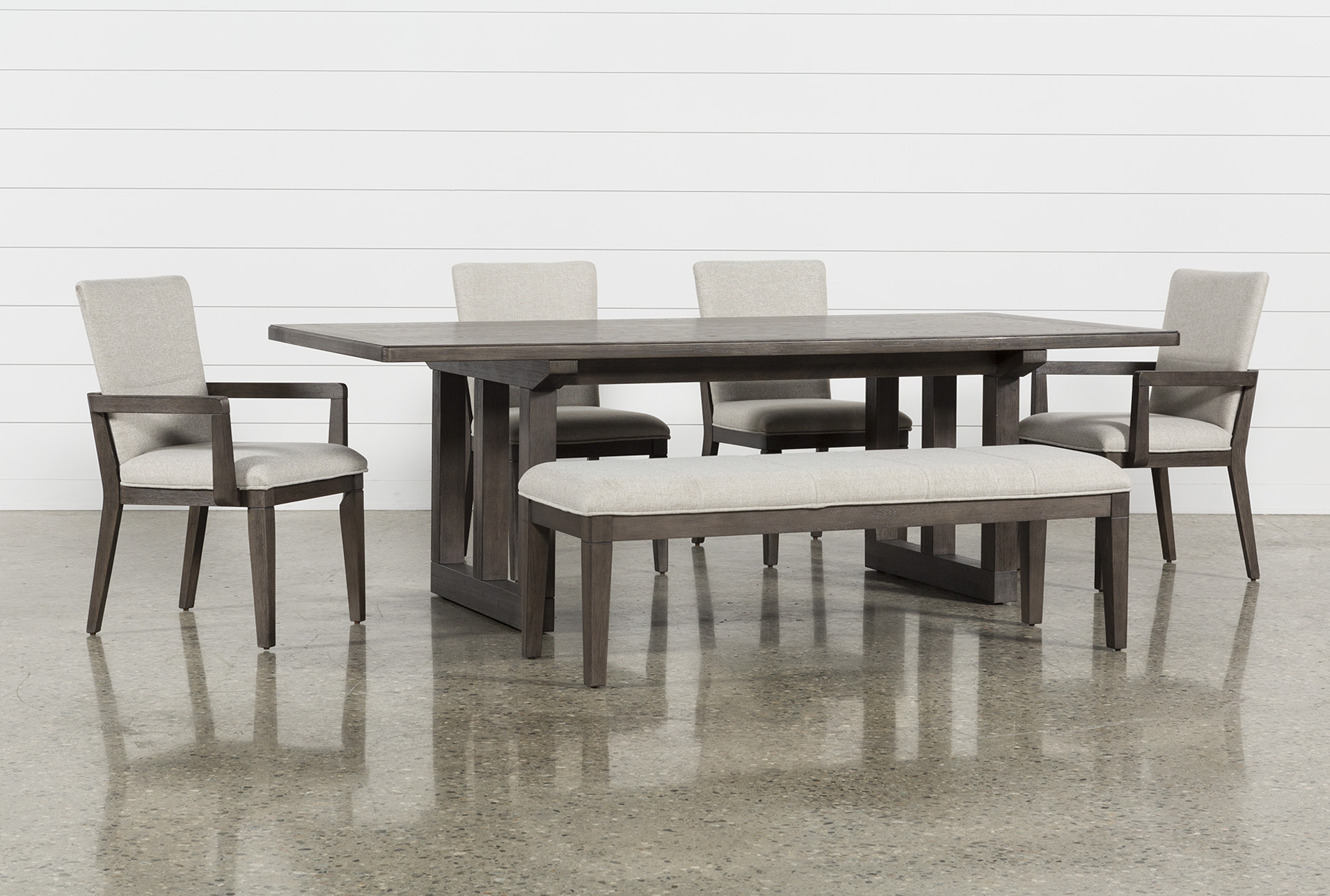 Modern Dining Set Helms 6 Piece Rectangle Dining Set