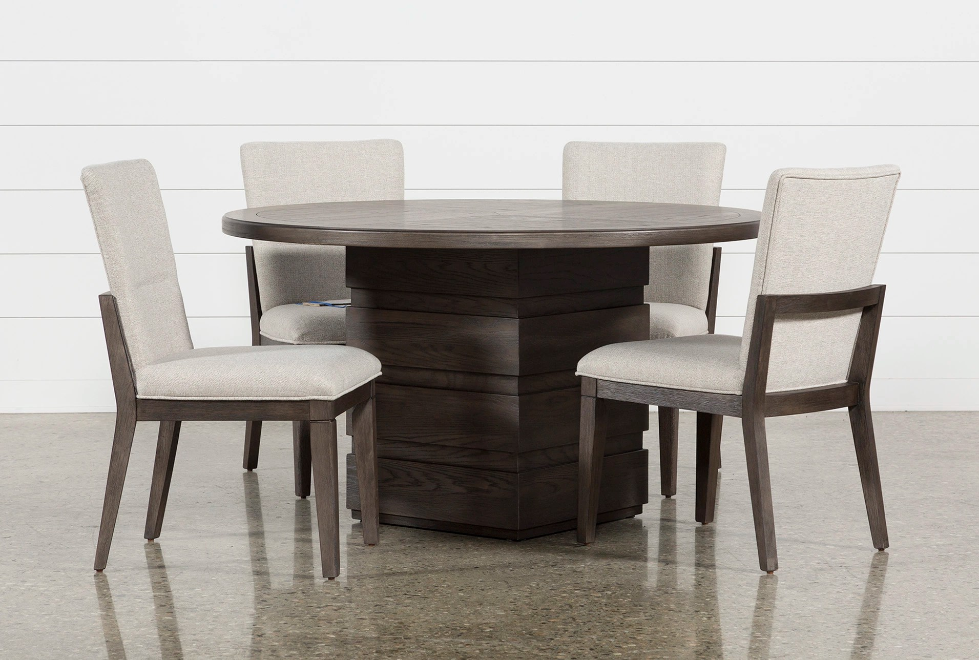 Modern Dining Set Helms 5 Piece Round Dining Set With Side Chairs