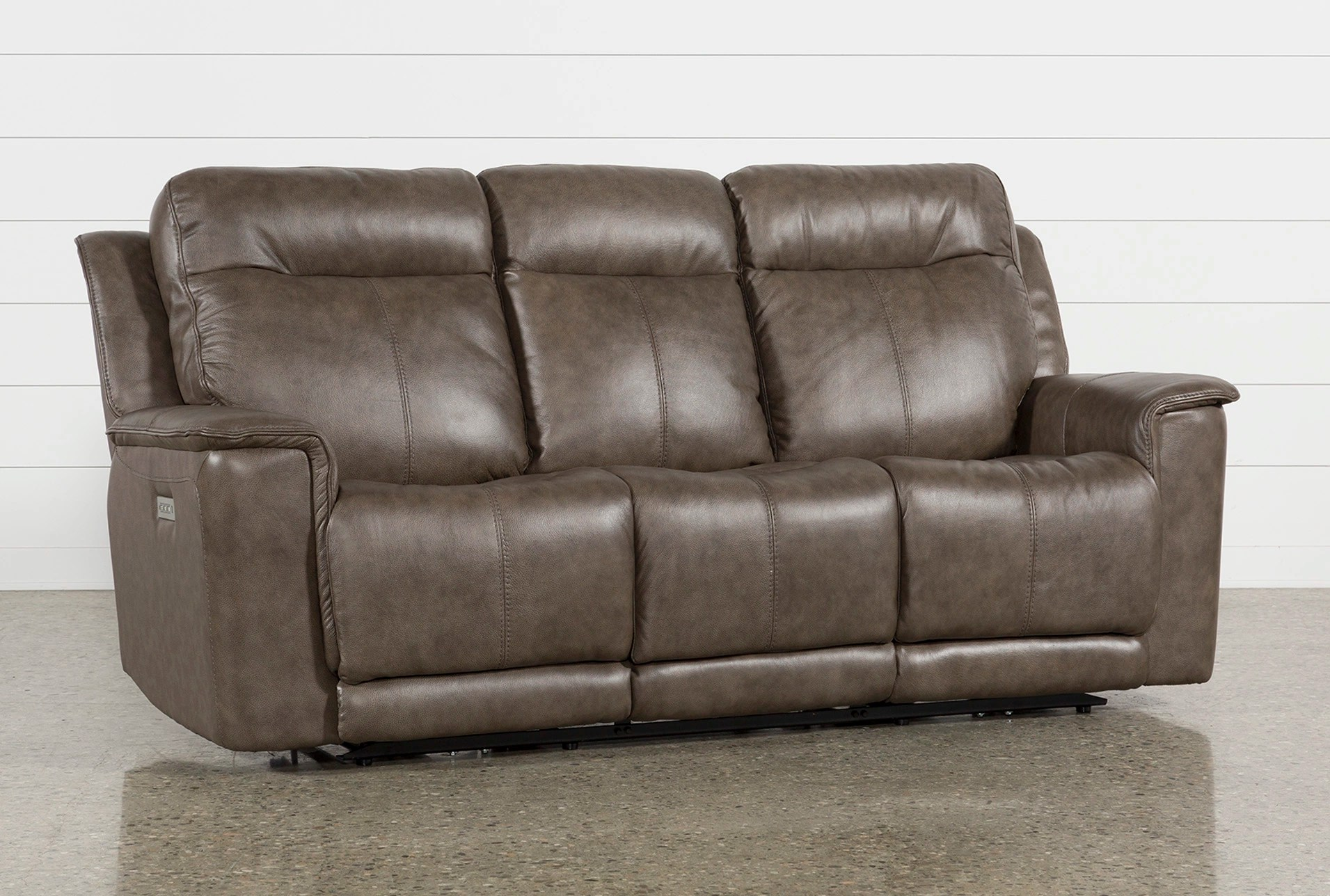Sofa Dreams Outlet Walsh Mink Power Reclining Sofa W Power Headrest Lumbar Usb