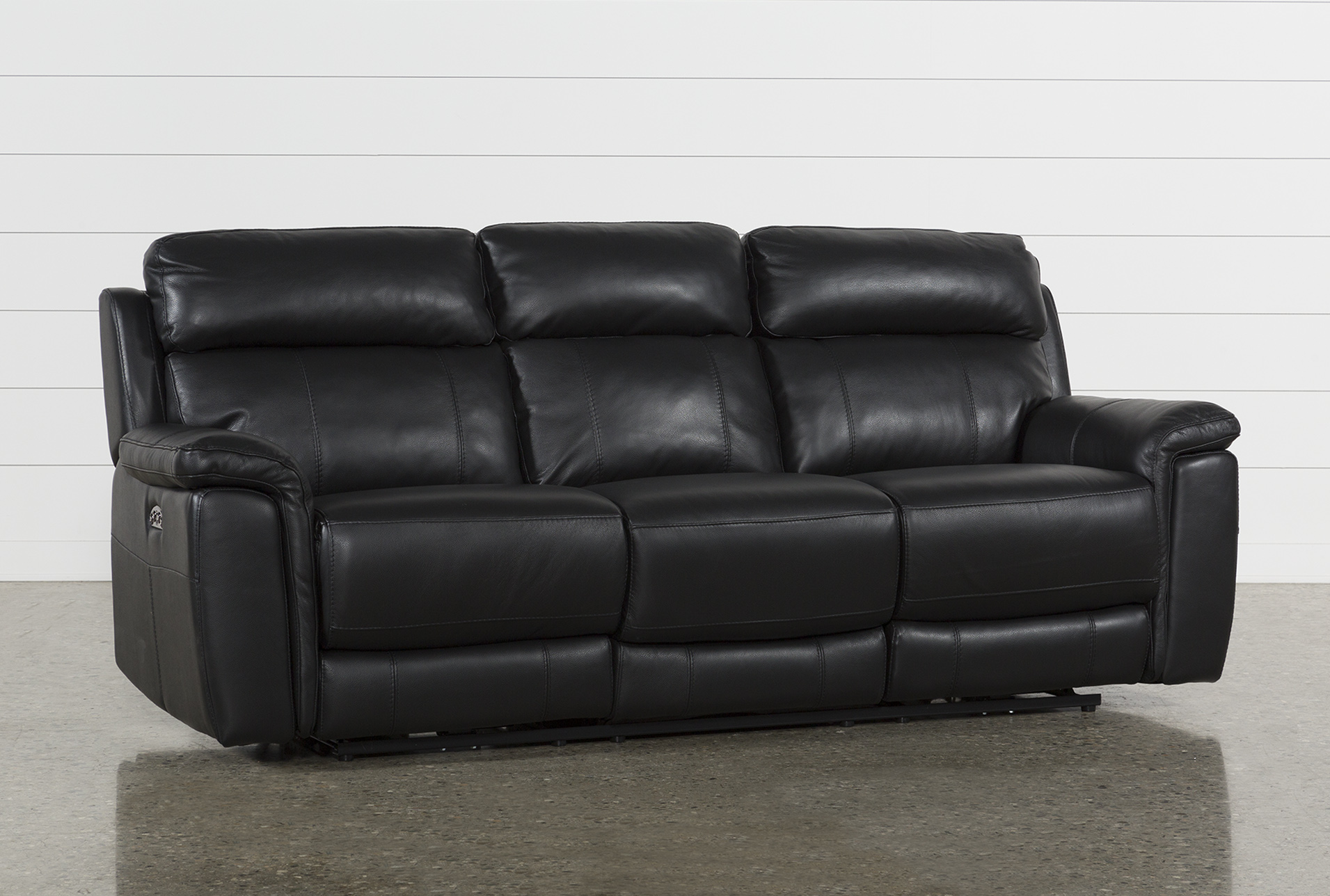 Sofa With Recliner Dino Black Leather Power Reclining Sofa W Power Headrest Usb