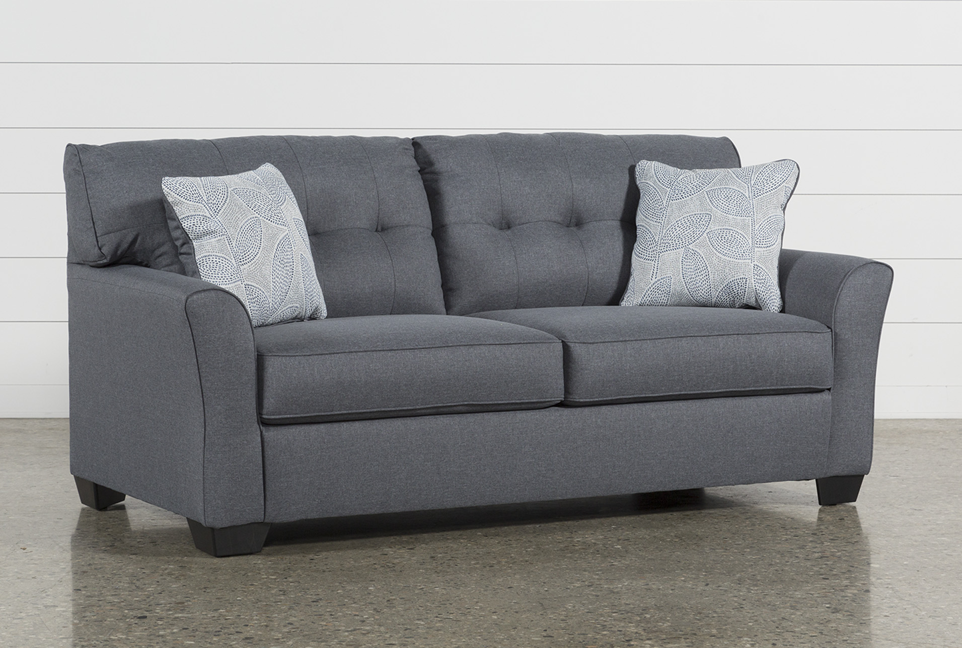 Couches Sleeper Jacoby Gunmetal Full Sofa Sleeper