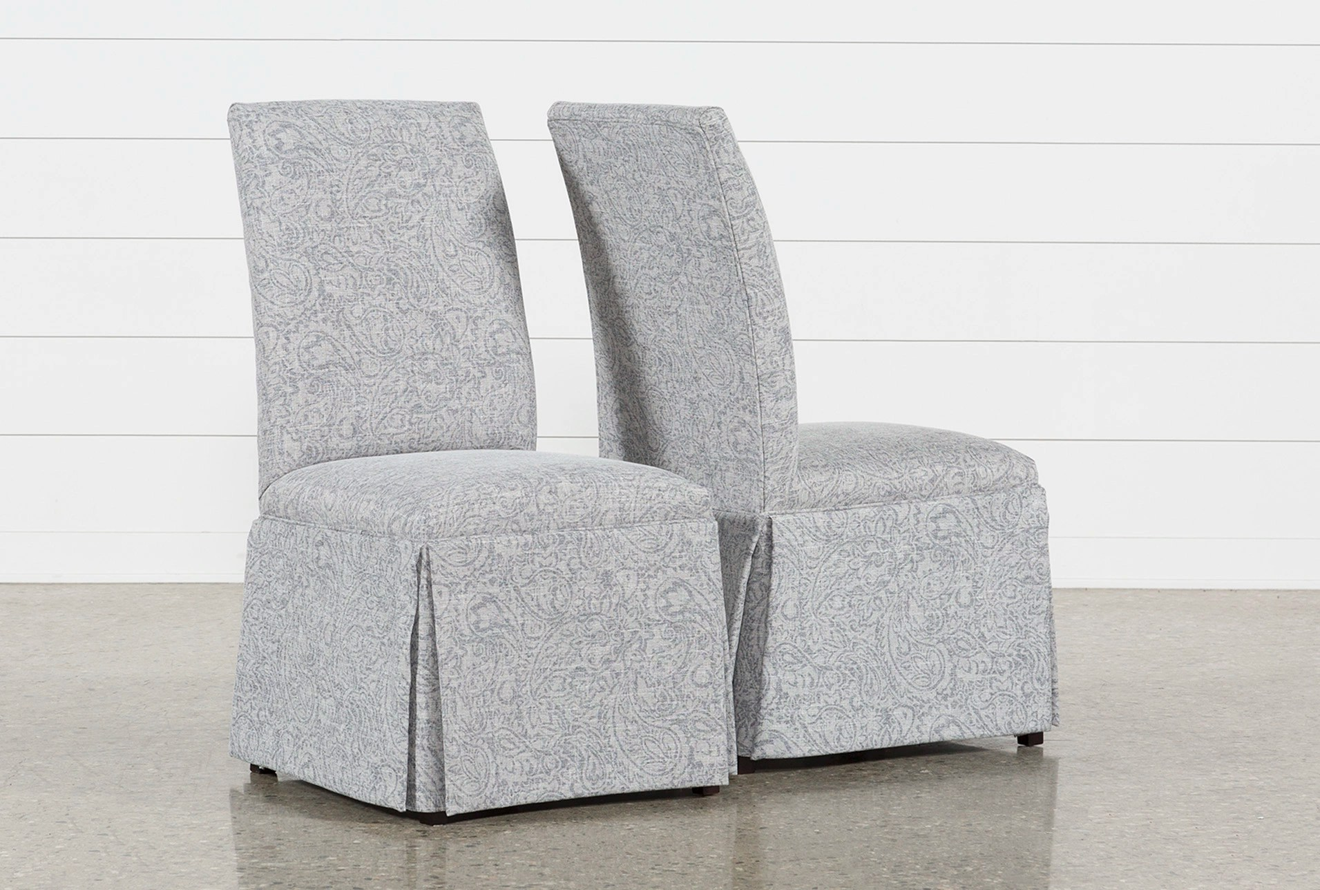 Garten-24 Garten Marble Skirted Side Chairs Set Of 2 Living Spaces