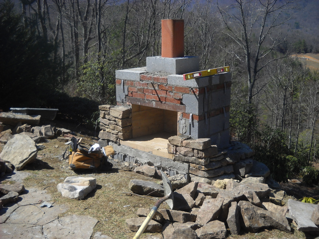 Make Your Own Outdoor Fireplace Stonetutorials Living Stone Masonry