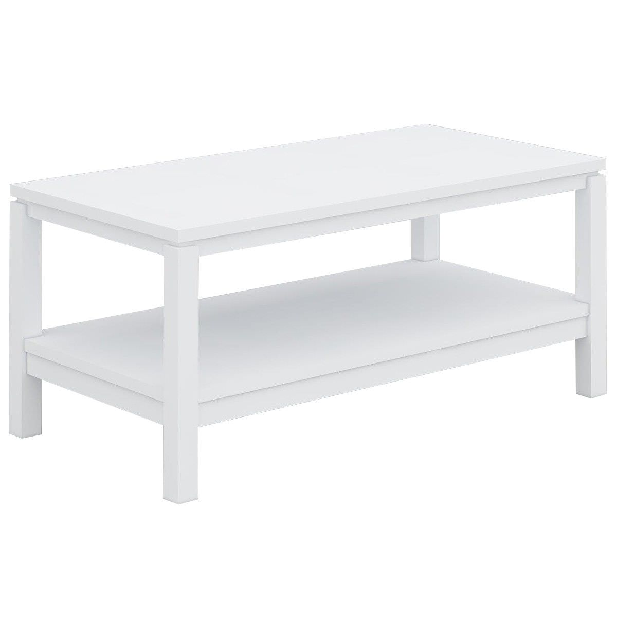 White And Timber Coffee Table Braque Solid Rubberwood Timber Coffee Table 96cm White