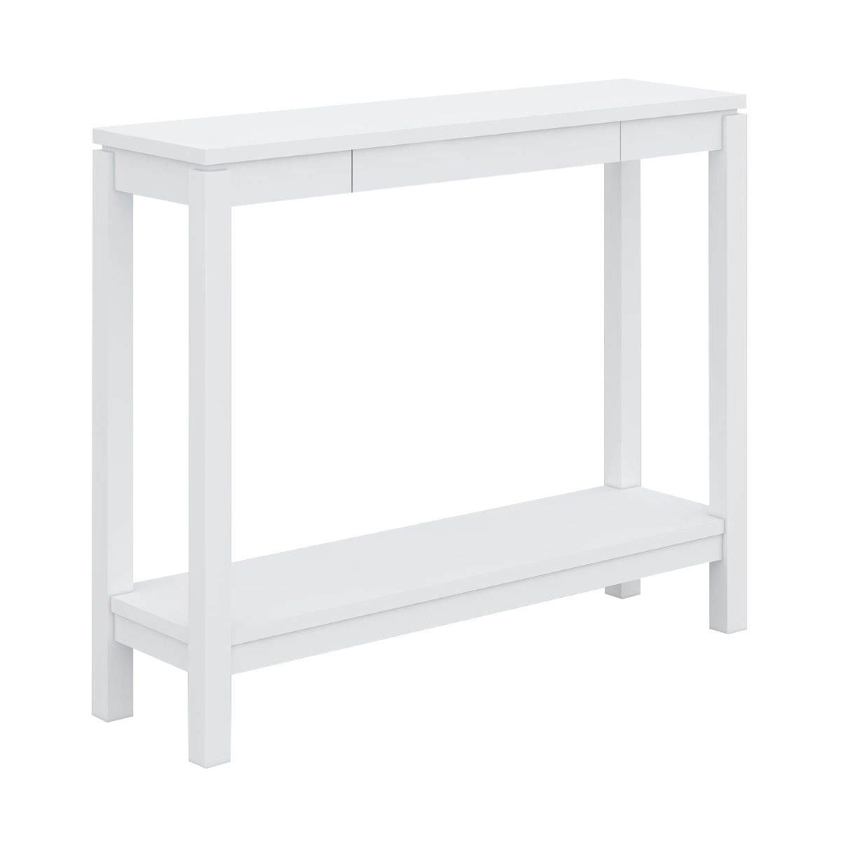 Narrow Console Table Australia Braque Solid Rubberwood Timber Console Table 96cm White