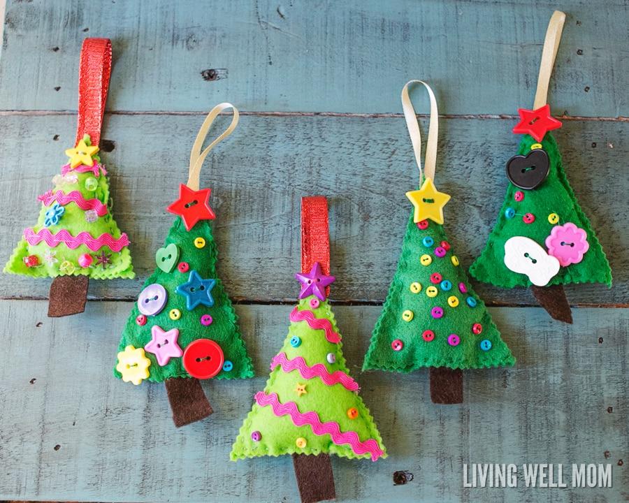 Felt Christmas Tree Ornaments - felt christmas decorations