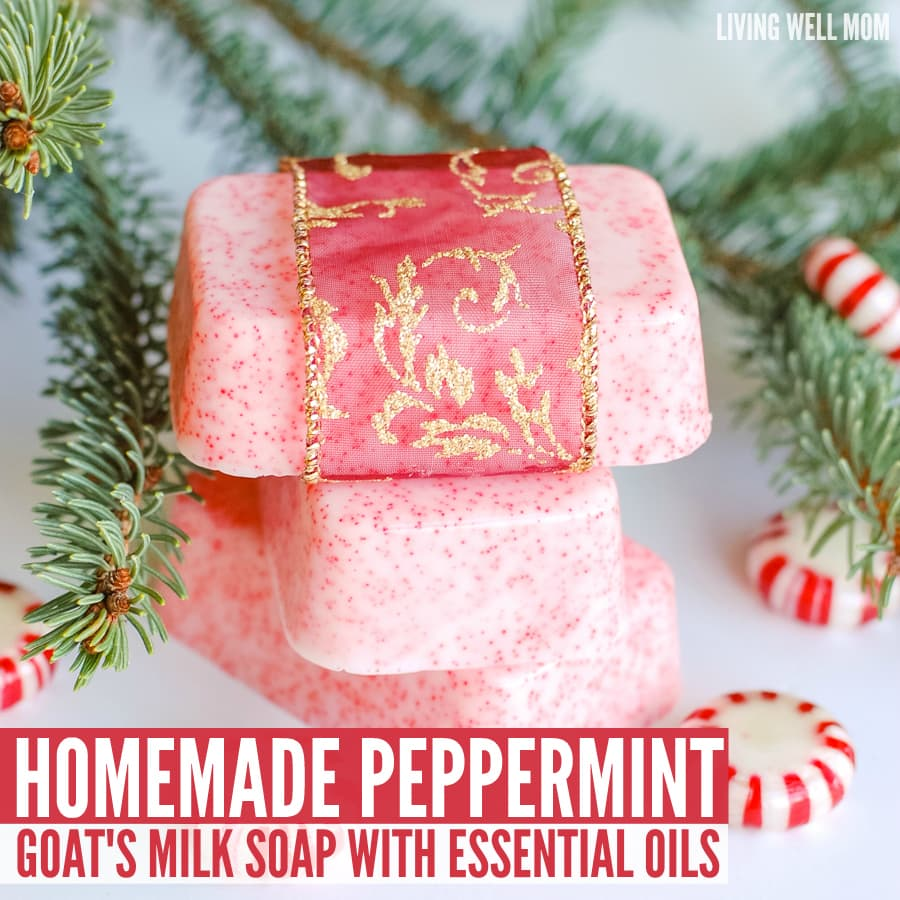 Diy Soap Essential Oils Homemade Peppermint Goat Milk Soap