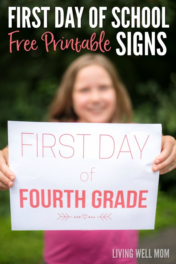Back to School Free Printable First Day of School Signs