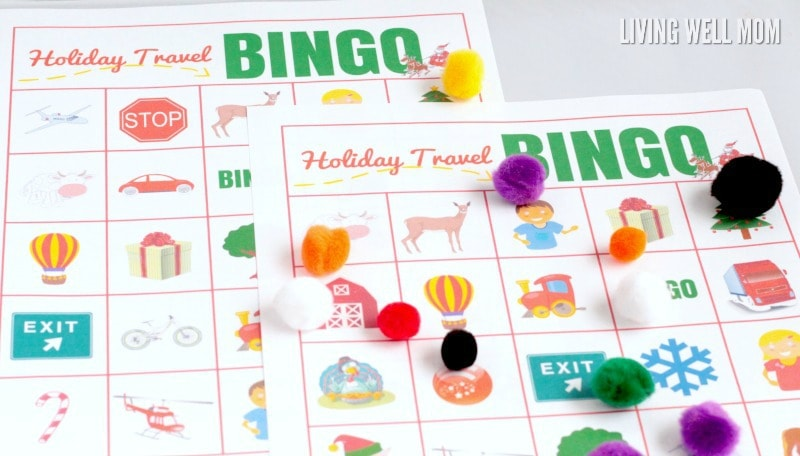 Printable Bingo Game Holiday Travel