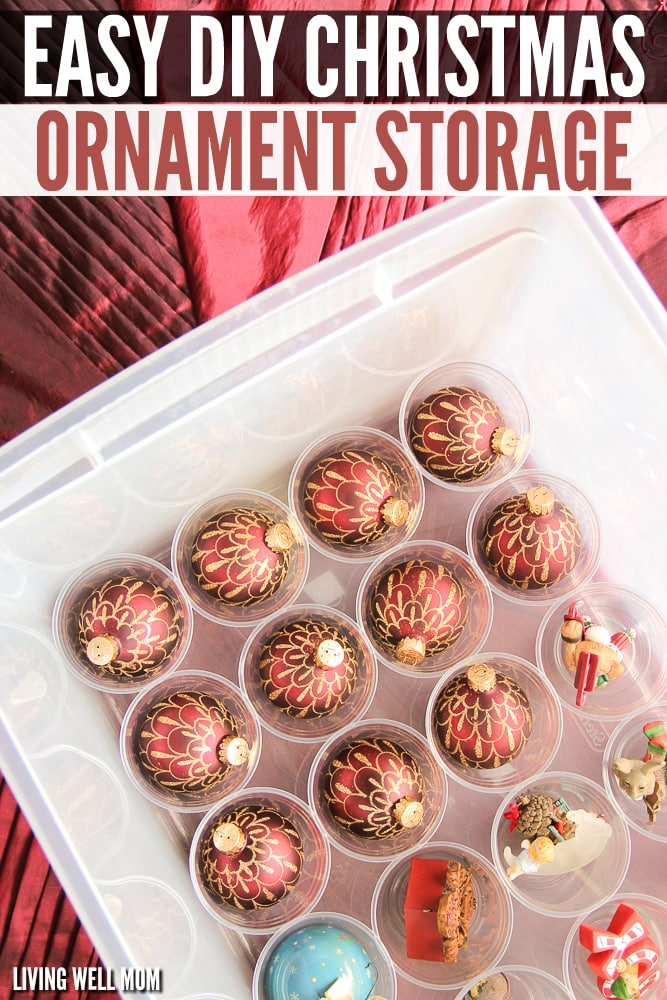 Easy DIY Christmas Ornament Storage - how to store christmas decorations