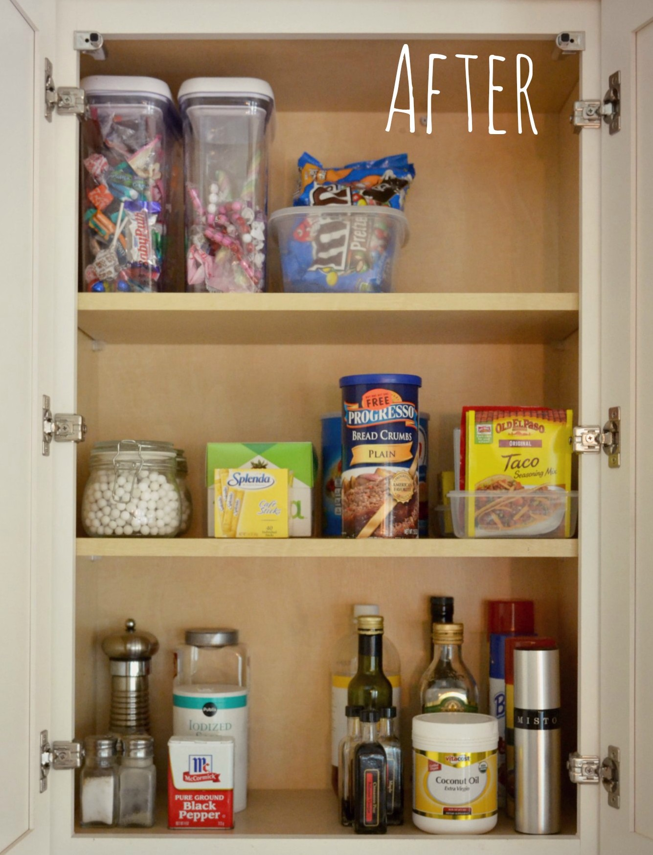 How To Clean The Kitchen Cabinets Organized Kitchen Cabinet Living Well Spending Less