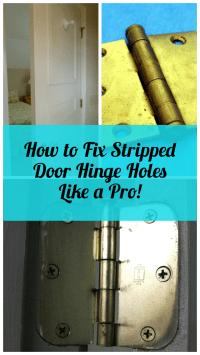 How to Repair Stripped Door Hinge Screw Holes