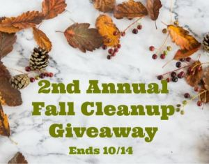 Fall Cleanup Giveaway Ends 10/14